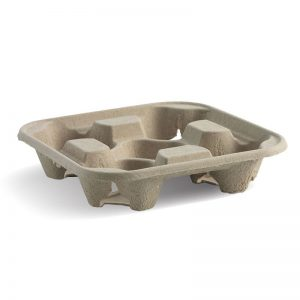 Symbio 4 Cup Natural Coffee Cup Carry Tray